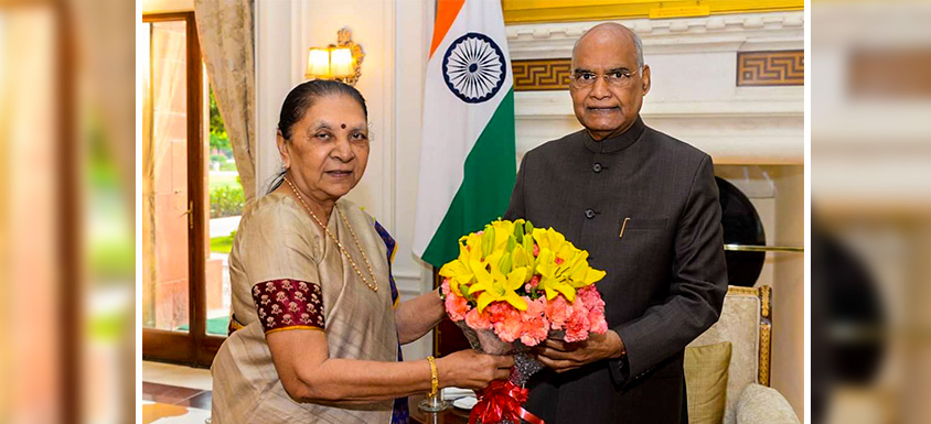 Governor Anandiben Patel met the President
