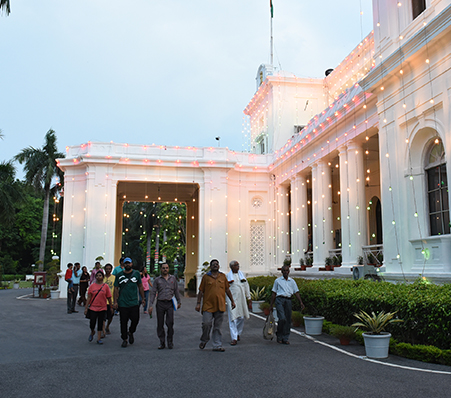 Raj Bhavan opened for public on Independence Day