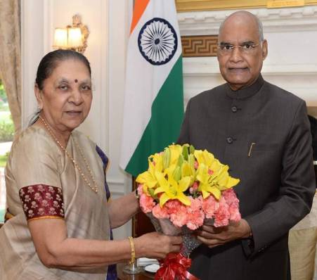 Governor Anandiben Patel met the President, Also met Union Home Minister and Defence Minister, Reached AIIMS and inquired about Mr. Jaitley health