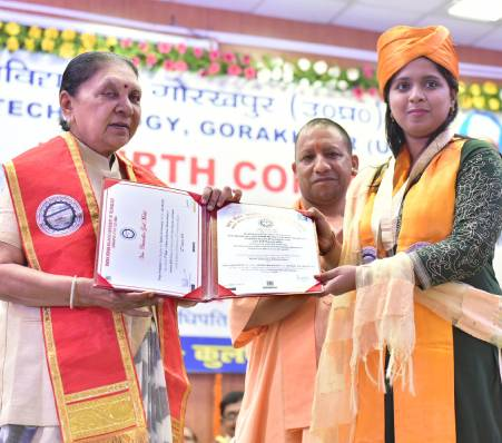 The Governor distributed medals in the Convocation Ceremony of Madan Mohan Malviya University of Technology