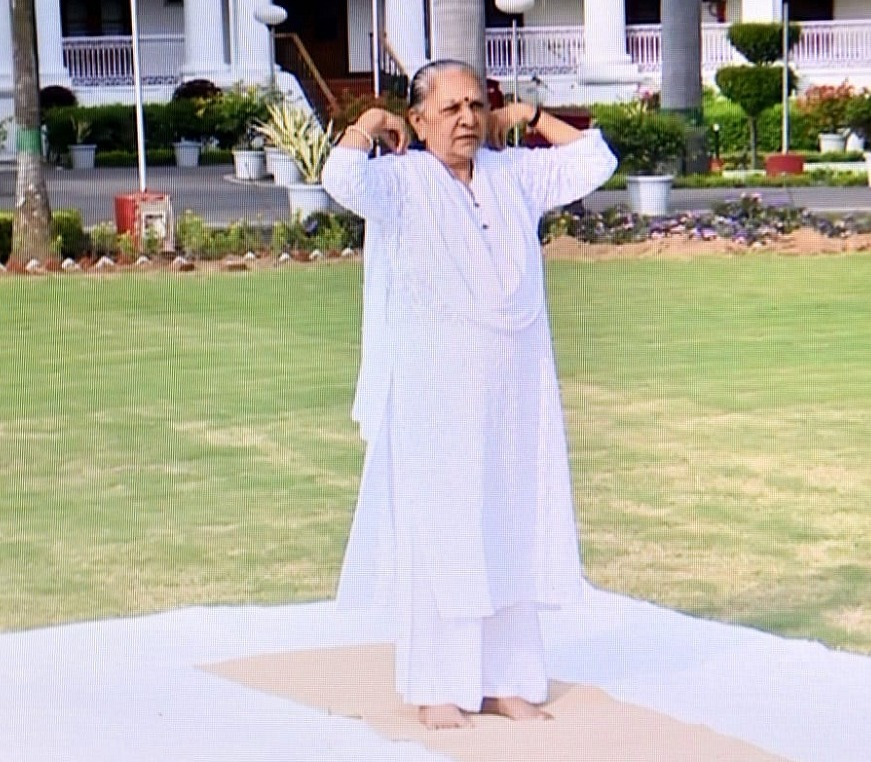 The Governor performed yoga on International Yoga Day.